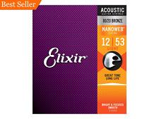 Elixir Nanoweb 80/20 Bronze Acoustic Guitar Strings Light 12-53