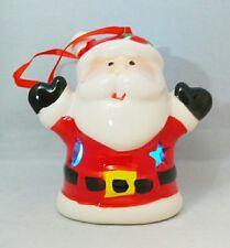 "Santa Claus Light Up 3.5"" Ceramic Ornament Christmas Stocking Stuffer Gift"
