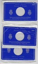 More details for six different blue empty card display cases for victoria & george v coins