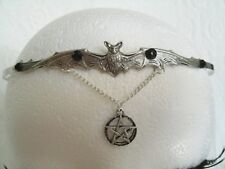 Bat Circlet wiccan pagan pentacle witch witchcraft pentagram gothic halloween