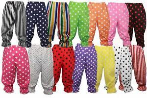 Adults Polka Dot Frilly Pants Rag Doll Panto Clown Pants Bloomers Fancy Dress