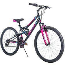 "Women's Mountain Bike 26"" Huffy Dual Suspension Sport Pink Bicycle Shimano New!"