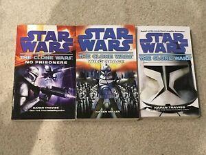 Three Star Wars The Clone Wars paperback books