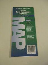 1997 Rand McNally Maine Vermont New Hampshire State Travel Road Map~Green Box B