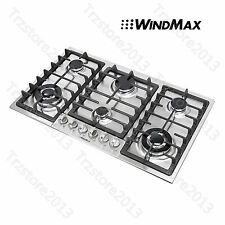 34 inch Built-In 6 Burner Cooktop Stainless Steel Stove LPG NG Oven Home Gas Hob
