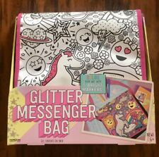 Horizon Group Glitter Messenger Bag Including Markers & Sparkling Stones New
