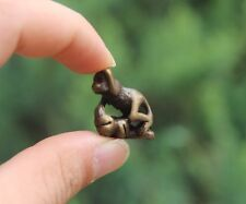 100% Pure Bronze Chinese Zodiac Aniaml lucky Monkey Peach Tree Amulet Pendant