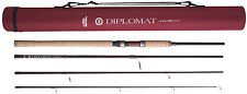 ABU Garcia 4 PEZZI Diplomat 904ml 9ft Spinning Spin Rod-PLUS Cordura tubo