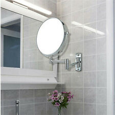 Saving Space Magnifying Wall Mount Makeup Mirror Closeup Two Sides Home Bathroom