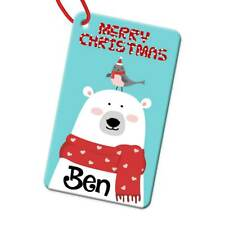 Personalised Any Name Rectangle Christmas Bauble Tree Decoration Gift 131