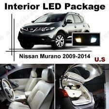 White LED Lights Interior Package Kit for Nissan Murano 2009-2014 ( 14 Pcs )
