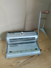 Akiles Wiremac 31 Manual Double Loop Wire Binding Machine Great Condition