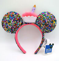2020 Limited Party Candle Multicolor Minnie Ears Sequins Disney Parks Headband