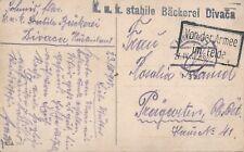 Nr 16377 PK  K.u.K.Feldpost stabile Bäckerei Divaca Divača Slowenien 1917