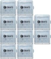 10x EWANTO Aufbewahrungsbox AAA/AA Batterie Batteriebox Mignon Micro Akku Box