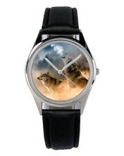 Wolf Wölfe Geschenk Fan Artikel Zubehör Fanartikel Uhr B-2804