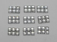 500 Clear Mosaics 3mm Square Flatback Rectangle Rhinestone Gems 9X6mm