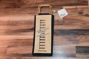 Kennedy Center Beethoven Bamboo Handle 2 Bottle Wine Bottle Holder Bag Souvenir!