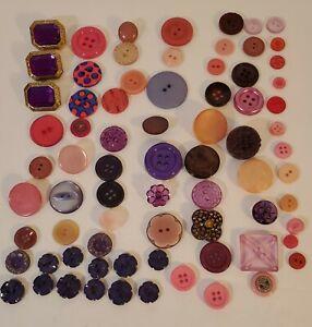 Buttons  The colour Purple vintage