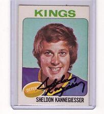 SHELDON KANNEGIESSER SIGNED 1975-76 OPC O-PEE-CHEE HOCKEY AUTOGRAPH CARD #69