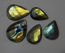Labradorite Strong Flash Faceted Pear Briolette 17x26mm-26x36mm 157 Ct 5 Piece