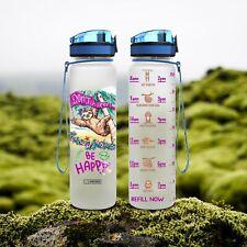 Motivational Water Tracker Bottle - Sloth -  32 Oz Fruit Infusion