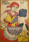 Soviet Russian Original POSTER Wash fruits and vegetables Safety Health Hygiene