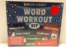 NEW Brain Games Word Workout Kit - Puzzle Books, Tiles, Letter, Hidden Challenge