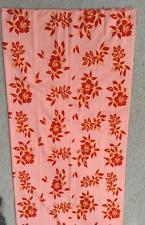 TUREIA cotton fabric 40 x 70 inches Tahitian floral pink red hemmed