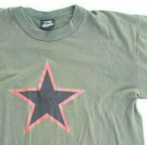 Vintage China Red Star Paintball Army Green Rothco Made in USA 1990s T-Shirt