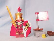 Lego red king knight Lion Castle minifig weapons building blocks