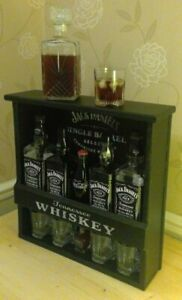 Home Bar Drinks Alcohol Shelving Unit Jack Daniels Bar Glass holder