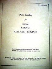 Pratt Whitney Twin Wasp R-1830-94 Parts Manual