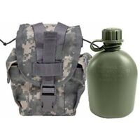 Never Issued U.S. G.I. 1 quart Olive Drab Canteen with Previously ACU MOLLE