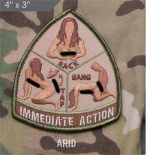 Mil-Spec Monkey IMMEDIATE ACTION morale patch hook back ARID tap rack bang