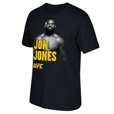 Jon Jones Reebok UFC Men's Black  Crewneck T-Shirt CT2197