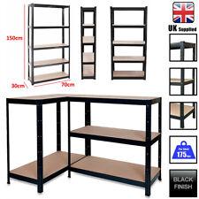 More details for 5 tier garage shelves shelving unit racking boltless heavy duty storage shelf