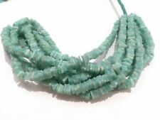 "1 Strand Natural Amazonite Square Smooth Cut 7-8mm Gemstone Beads 8""inch A1"