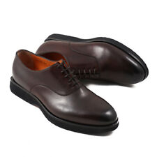 NIB $795 SANTONI Brown Leather Oxford with Lightweight Sole US 9.5 Shoes