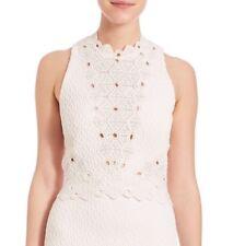 NWT Rebecca Taylor Sleeveless Dia Lace Crop Top, Sz 6