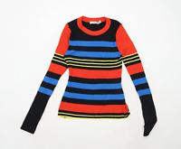 Asos Womens Size 12 Striped Black Jumper (Regular)