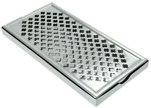 """Beaumont Bar Drip Tray Professional Barware Stainless Steel Drainer 12"""" x 6"""""""