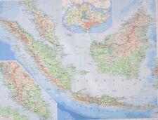 1958 LARGE MAP MALAYA SUMATRA JAVA BORNEO SINGAPORE KUALA LUMPUR MALACCA KUANTAN