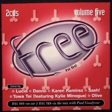 FREE TO BE - Volume Five 5 -2CD Central Station Records - Paul Goodyear Kylie