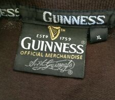 Guinness Beer Shirt Mens XL Brown Polo Jersey Embroidered Dublin Ireland A61