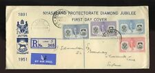 Nyasaland/British Central African First Day Cover Stamps