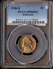1938-D US 5C Jefferson PCGS MS66FS