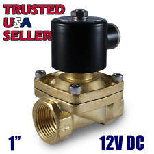 "1"" 12V DC Electric Brass Solenoid Valve Water Gas Air 12 VDC - FREE SHIPPING"