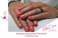 Vernis Semi Permanent NAILITY UV/LED/CCFL n°59  Pink Love 7ml GEL POLISH USA