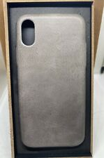 iPhone X/Xs Leather Case Gray